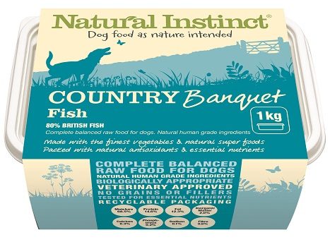 Natural Instinct country banquet fish raw dog food