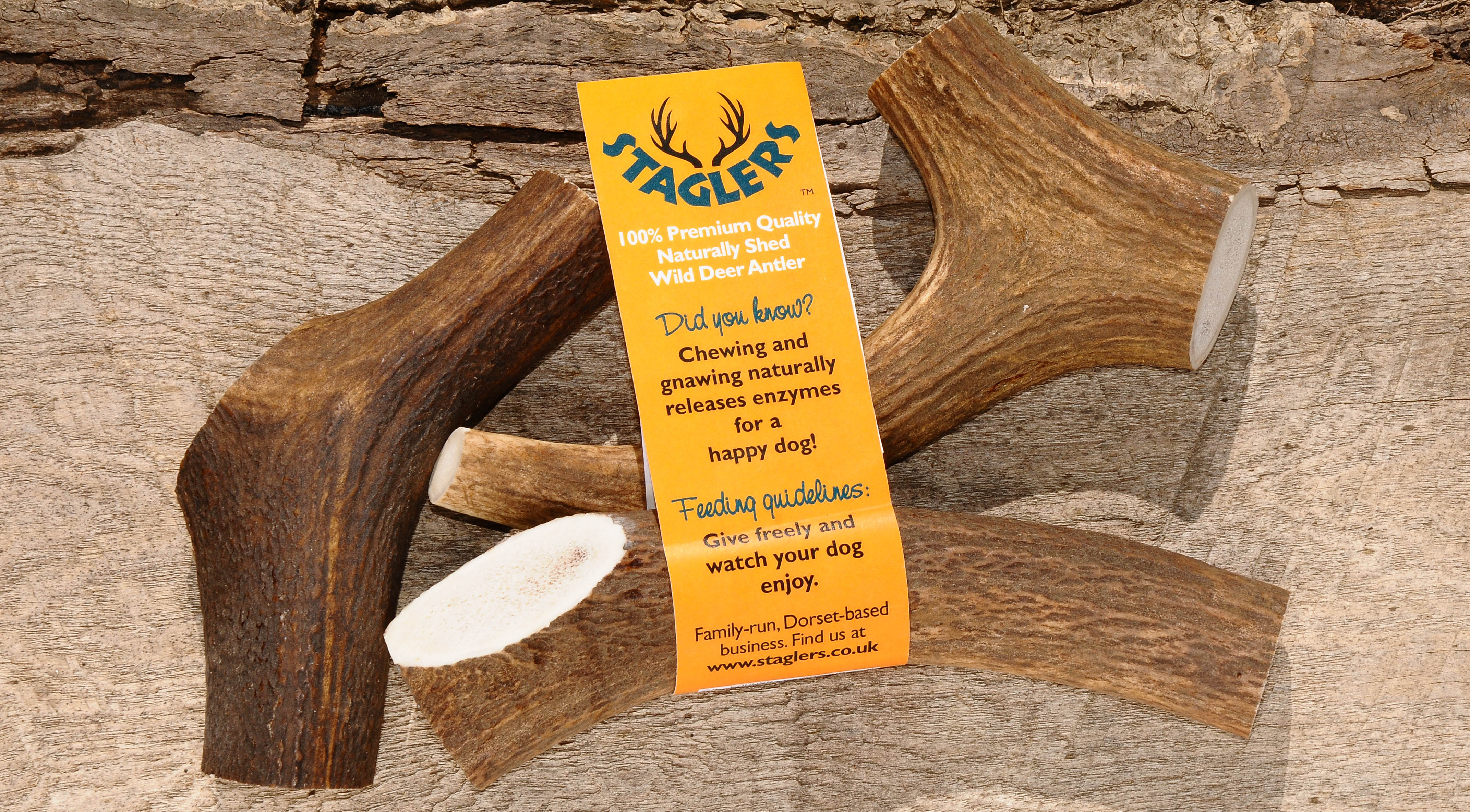 Staglers medium deer antler dog chews